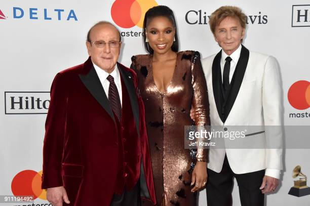 Clive Davis Jennifer Hudson and Barry Manilow attend the Clive Davis and Recording Academy PreGRAMMY Gala and GRAMMY Salute to Industry Icons...