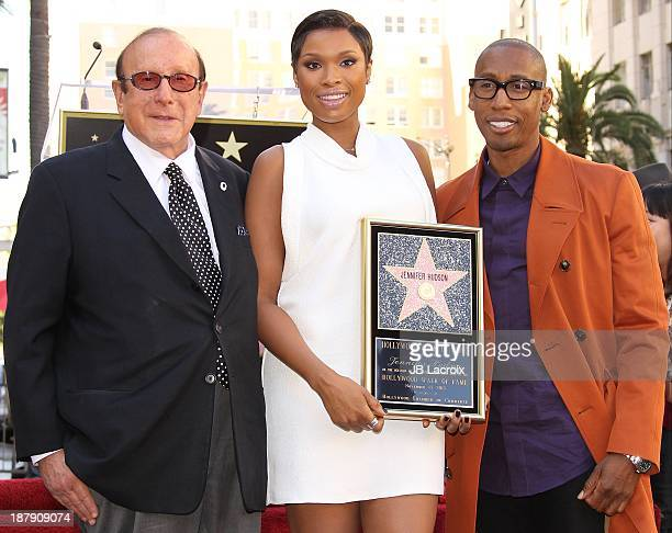 Clive Davis Jennifer Hudson and Raphael Saadiq attend the ceremony honoring Jennifer Hudson with a Star on The Hollywood Walk of Fame on November 13...