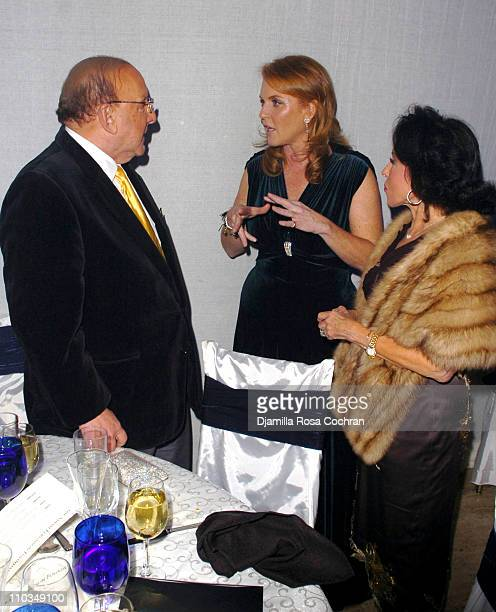 Clive Davis Sarah Ferguson Duchess of York and Nikki Haskell attend La Dolce Vita Benefit for the Sarah Ferguson Foundation at Cipriani Wall Street...