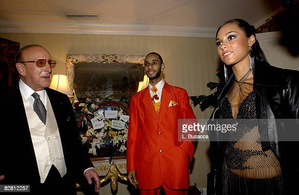 Clive Davis Swizz Beatz and Alicia Keys
