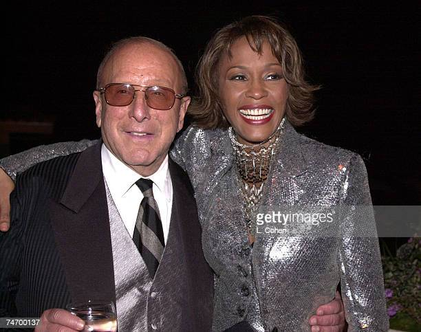 Clive Davis Whitney Houston at the Private House in Los Angeles California