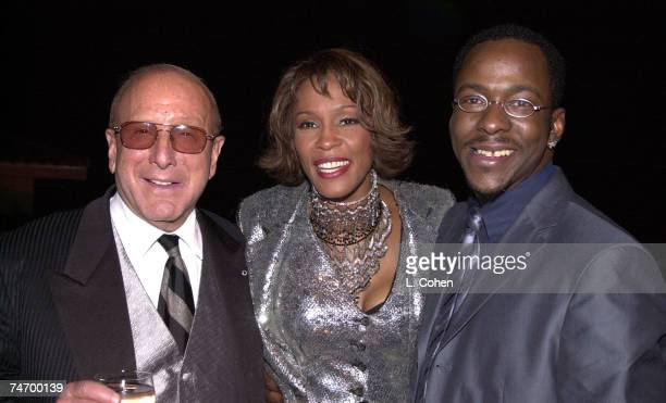 Clive Davis Whitney Houston Bobby Brown at the Private House in Los Angeles California