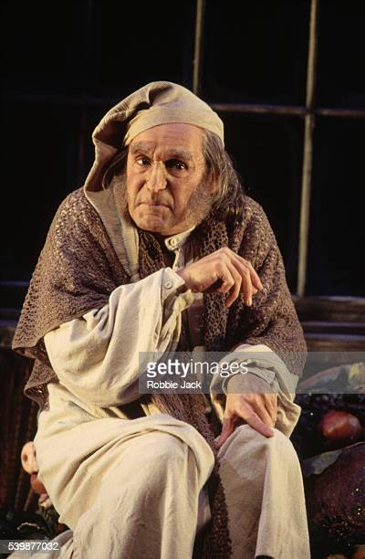 Clive Francis plays Ebenezer Scrooge in a Royal Shakespeare production of A Christmas Carol by Charles Dickens