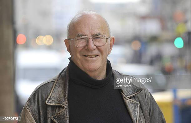 Clive James outside BBC Broadcasting House 6th Nov 2008 Landscape format Exteriors