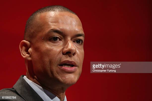 Clive Lewis Shadow secretary for defence addresses delegates on day two of the Labour party conferenceon September 26 2016 in Liverpool England...