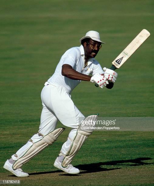 Clive Lloyd batting for Lancashire, circa 1986.