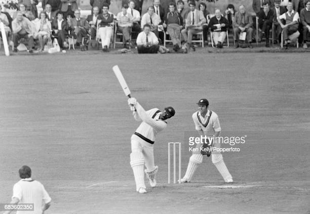 Clive Lloyd batting for Lancashire during a John Player League match against Worcestershire at Tipton Road, Dudley, 23rd August 1970. The...