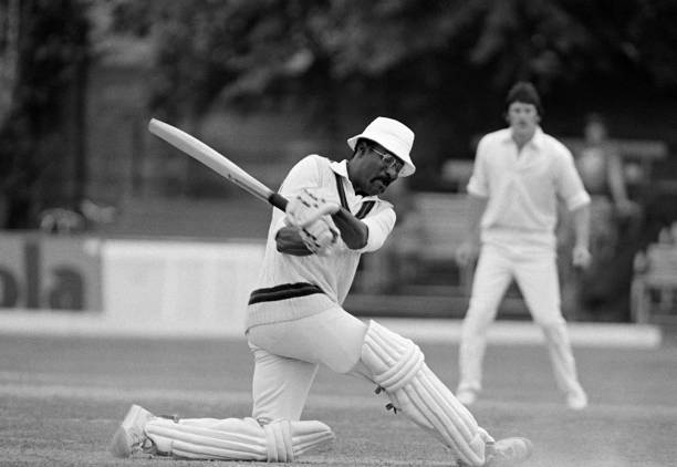 Clive Lloyd batting for Lancashire during his innings of 102 against Northamptonshire in the County Championship match at the County Ground in...