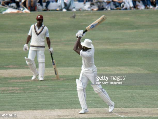 Clive Lloyd batting for West Indies during the Prudential World Cup Final between India and West Indies at Lord's Cricket Ground, London, 25th June...