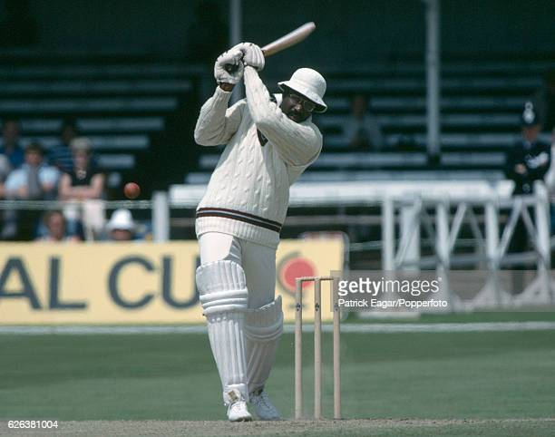 Clive Lloyd batting for West Indies during the World Cup group match between New Zealand and West Indies at Trent Bridge Nottingham 16th June 1979...