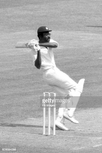 Clive Lloyd playing for the West Indies hits Dennis Lillee for six during the Prudentialsponsored World Cup final at Lord's
