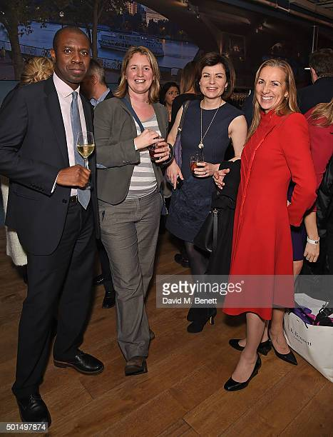 Clive Myrie Rachel Price Jane Hill and Rona Alison Fairhead attend the BBC 100 Women gala hosted by the BFI at BFI Southbank on December 15 2015 in...