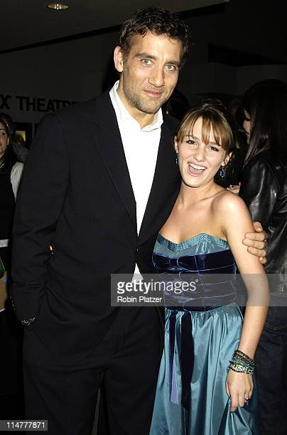 Clive Owen and Addison Timlin during Derailed New York City Premiere at Loews Theatre Lincoln Square in New York City New York United States