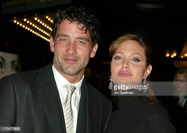 Clive Owen and Angelina Jolie during World Premiere of 'Beyond Borders' Outside Arrivals at The Ziegfeld Theatre in New York City New York United...