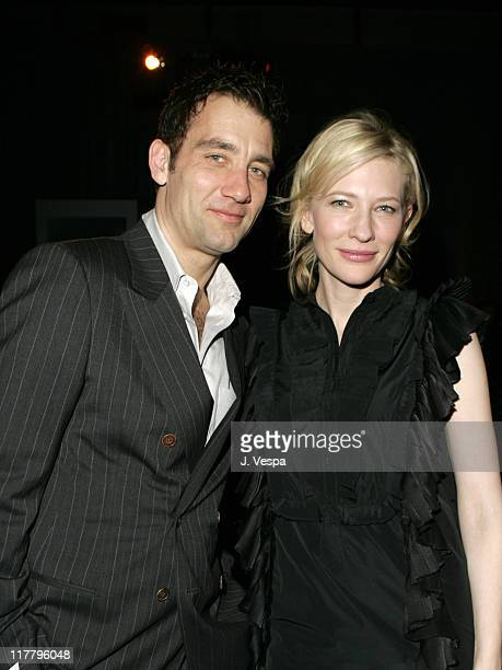 Clive Owen and Cate Blanchett during Miramax PreOscar Party and 25th Anniversary Celebration Inside at Pacific Design Center in Los Angeles...