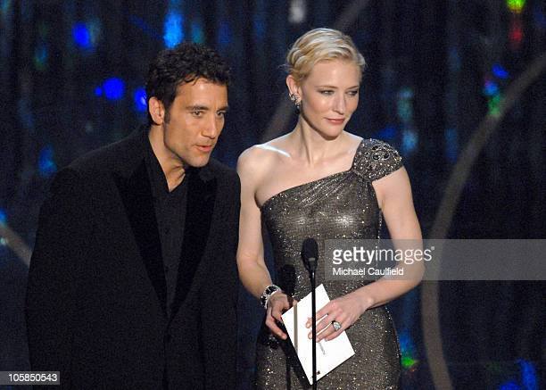 Clive Owen and Cate Blanchett nominee Best Actress in a Supporting Role for 'Notes on a Scandal' present Best Foreign Language Film award