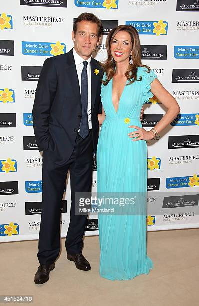 Clive Owen and Heather Kerzner attend the Masterpiece Marie Curie Summer party in partnership with Jaeger LeCoultre and Heather Kerzner at The Royal...
