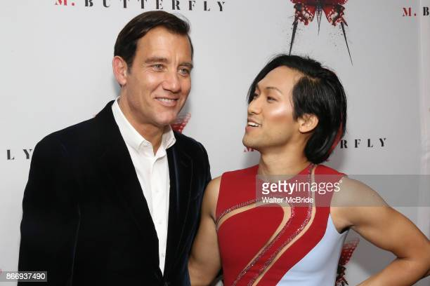 Clive Owen and Jin Ha attend the Broadway Opening Night After Party for 'M Butterfly' on October 26 2017 at Red Eye Grill in New York City