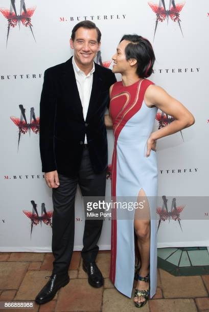 Clive Owen and Jin Ha attend the 'M Butterfly' Broadway opening night after party at Redeye Grill on October 26 2017 in New York City