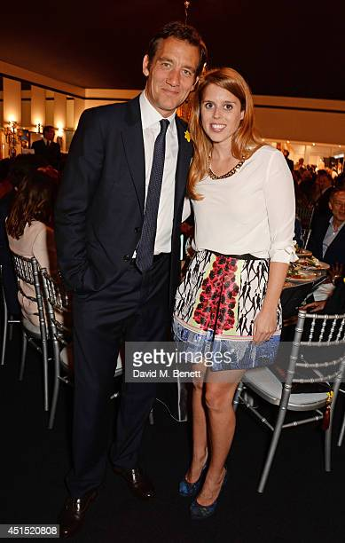 Clive Owen and Princess Beatrice of York attend The Masterpiece Marie Curie Party supported by JaegerLeCoultre and hosted by Heather Kerzner at The...