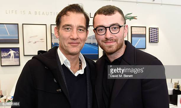 Clive Owen and Sam Smith attend the Lacoste VIP Lounge at ATP World Finals 2016 on November 20 2016 in London England