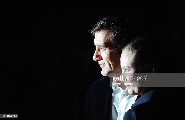 Clive Owen and wife Sarah-Jane Fenton arrive for the premiere of 'The Boys Are Back' during the Times BFI 53rd London Film Festival at the Vue West...