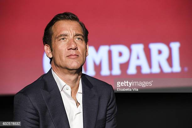 Clive Owen attends the 'Campari Red Diaries' press conference on January 24 2017 in Rome Italy