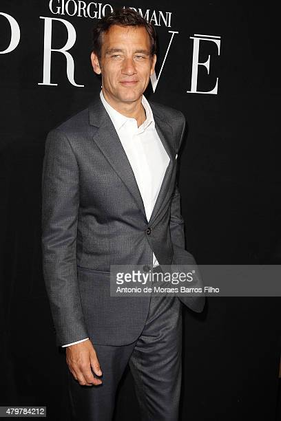 Clive Owen attends the Giorgio Armani Prive show as part of Paris Fashion Week Haute Couture Fall/Winter 2015/2016 on July 7 2015 in Paris France