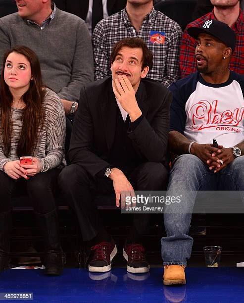 Clive Owen attends the New Orleans Pelicans vs New York Knicks game at Madison Square Garden on December 1 2013 in New York City