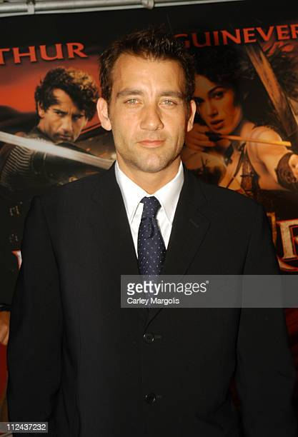 Clive Owen during King Arthur World Premiere Outside Arrivals at The Ziegfeld Theatre in New York City New York United States
