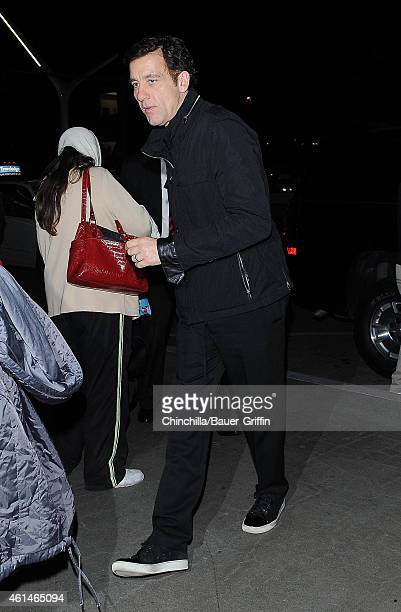 Clive Owen is seen at LAX on January 12 2015 in Los Angeles California