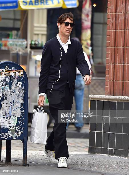Clive Owen is seen in Soho on October 22 2015 in New York City