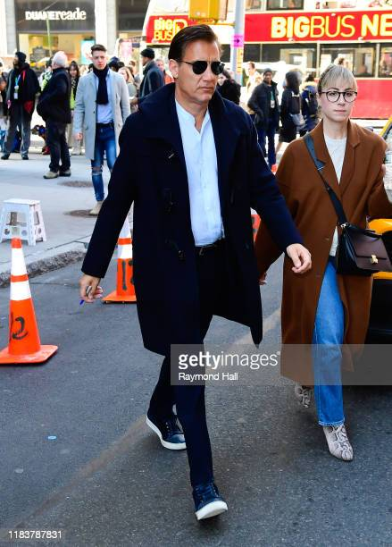 Clive Owen is seen outside build studio on November 21, 2019 in New York City.