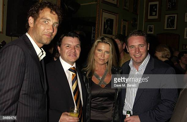 Clive Owen Jamie Foreman Julie Dennis and Ali Mcoist attend the afterparty following UK premiere of I'll Sleep When I'm Dead at the Kings Head...