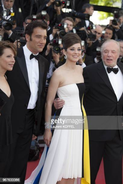 Clive Owen Marion Cotillard and James Caan attend the 'Blood Ties' Premiere during the 66th Annual Cannes Film Festival at the Palais des Festivals...