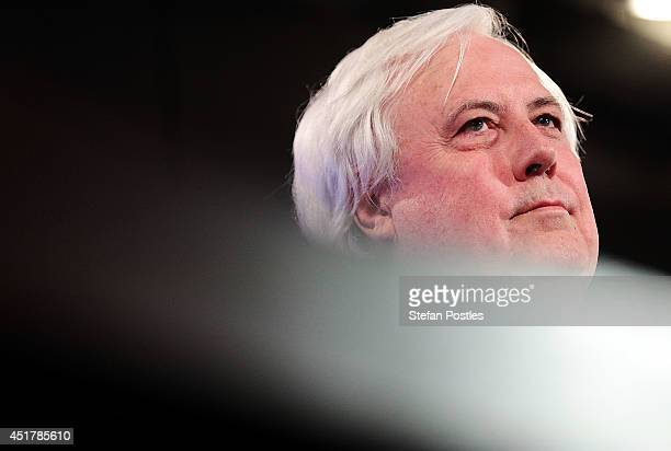 Clive Palmer speaks at National Press Club on July 7 2014 in Canberra Australia Today is the first day of sitting for the new senate Twelve Senators...