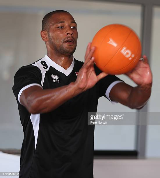 Clive Platt of Northampton Town takes part in a gym session during PreSeason Training on July 2 2013 in Novigrad Croatia