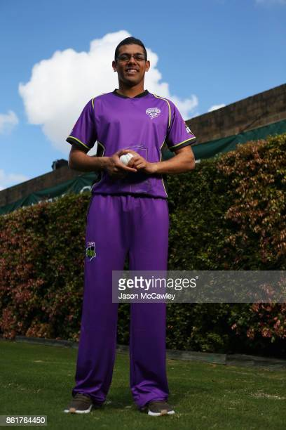 Clive Rose of the Hobart Hurricanes poses during the Big Bash League tickets on sale media opportunity at Sydney Cricket Ground on October 16 2017 in...