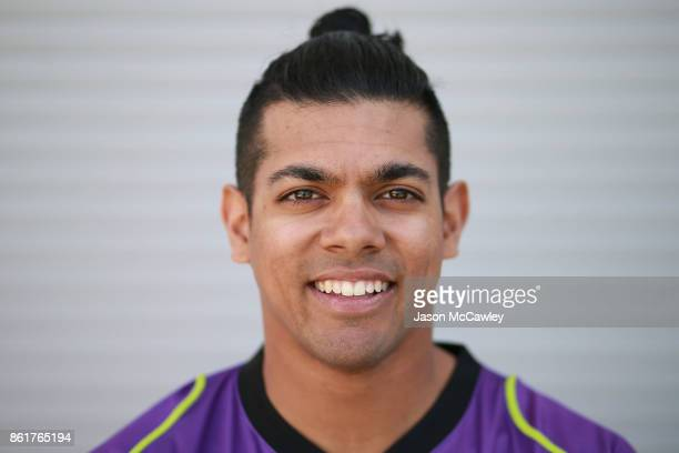 Clive Rose of the Hobart Hurricanes roses during the Big Bash League tickets on sale media opportunity at Sydney Cricket Ground on October 16 2017 in...