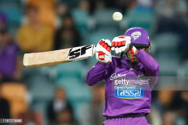 Clive Rose of the Hurricanes bata during the Big Bash League match between the Hobart Hurricanes and the Brisbane Heat at Blundstone Arena on January...