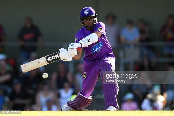 Clive Rose of the Hurricanes bats during the Big Bash League match between the Melbourne Stars and the Hobart Hurricanes at Ted Summerton Reserve in...