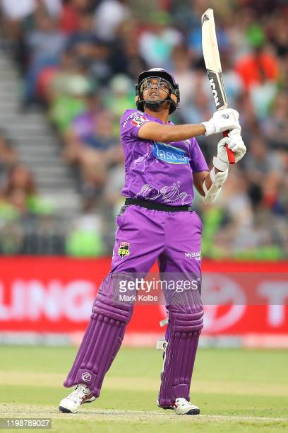 Clive Rose of the Hurricanes bats during the Big Bash League match between the Sydney Thunder and the Hobart Hurricanes at Sydney Showground Stadium...