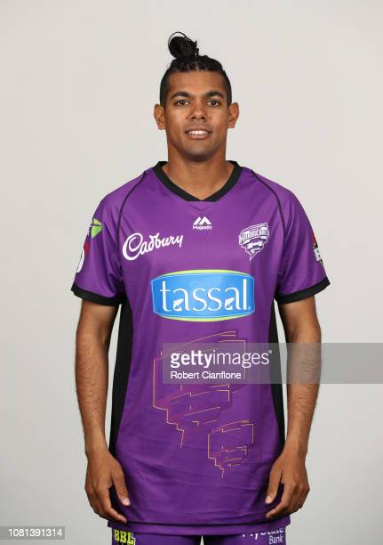 Clive Rose of the Hurricanes poses during Hobart Hurricanes BBL Headshots Session at Blundstone Arena on December 12, 2018 in Hobart, Australia.