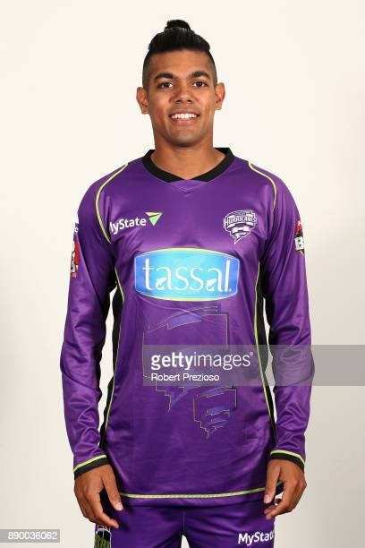 Clive Rose poses during the Hobart Hurricanes BBL headshots session on December 9 2017 in Hobart Australia