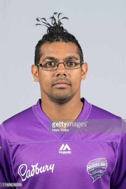 Clive Rose poses during the Hobart Hurricanes Big Bash League headshots session on December 13, 2019 in Hobart, Australia.