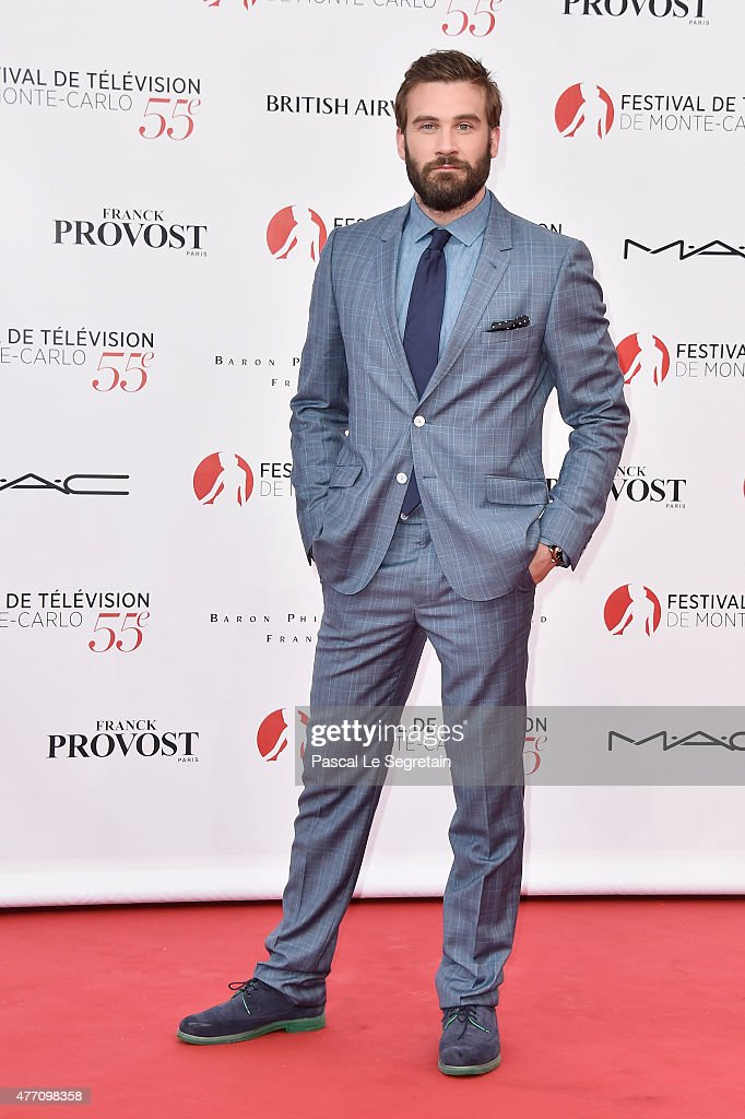 Clive Standen arrives to attend the opening ceremony of the 55th Monte Carlo TV Festival on June 13, 2015 in Monte-Carlo, Monaco.