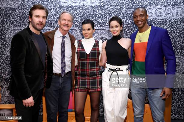 Clive Standen Michael O'Neill Michele Weaver Sarah Wayne Callies and J August Richards attend SCAD aTVfest 2020 Council Of Dads on February 28 2020...