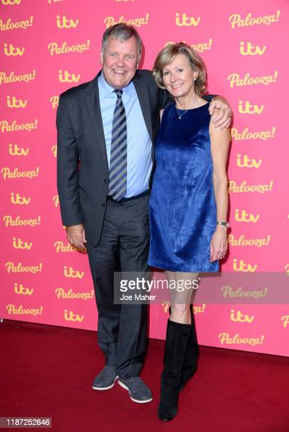 Clive Tyldesley and wife Susan attend the ITV Palooza 2019 at The Royal Festival Hall on November 12 2019 in London England