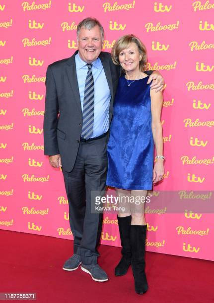 Clive Tyldesley and wife Susan Tyldesley attend attends the ITV Palooza 2019 at The Royal Festival Hall on November 12 2019 in London England