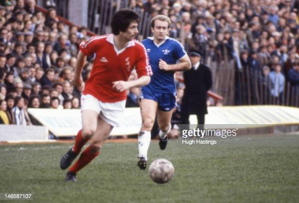 Clive Walker of Chelsea in action during the Football League Division Two match between Charlton Athletic and Chelsea held on March 29 1980 at The...